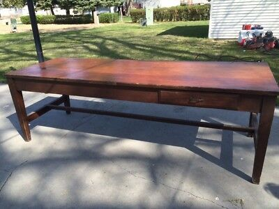 """Large Harvest Farm General Store Table - 2 Drawers 96"""" Long x 32"""" Wide"""