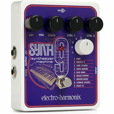 New Electro-Harmonix EHX SYNTH9 Synthesizer Machine Guitar Effects Pedal