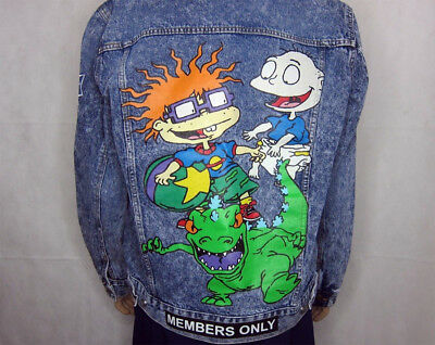 Rugrats X Members Only Denim Jacket Xxl Nickelodeon Cartoon Hey