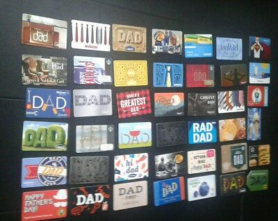 New Walmart  DAD Gift Card, Tools, Fathers Day 2018, Collectible, Mint