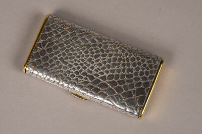 Antique French Silver & Gold Cigarette Case Hallmarked