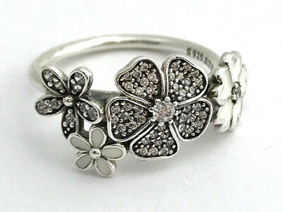 cf48006a6 Authentic Pandora Shimmering Bouquet Ring 190984CZ-48, Size 4.5, New