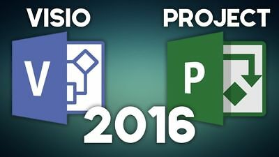 Microsoft Visio Professional Pro 2016 & Project Professional Pro2016 Pack(5 PCS)