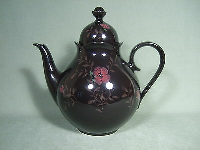 Vintage Mikasa Black Floral Rondo Coffee Pot E J # 703 Dominique Made In Japan
