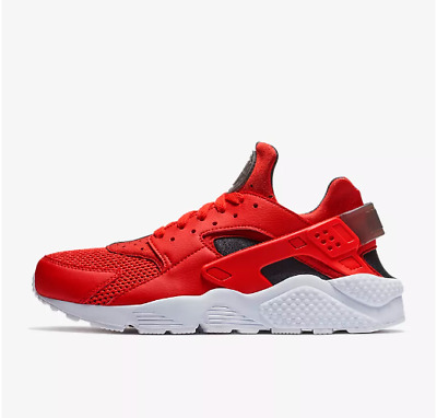 New Nike Men's Air Huarache Running Shoes (318429-609)  Habanero Red // White