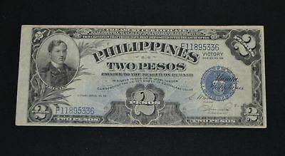 West Point Coins Philippine $2 Dollar Victory Note USBEP Osmera & Hernandez #95a