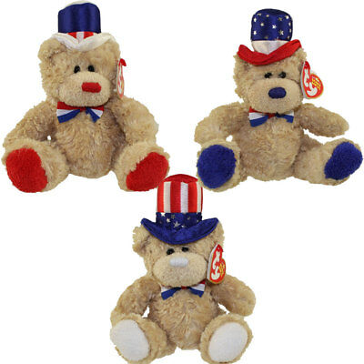 TY Beanie Babies - INDEPENDENCE Bears (Set of 3 - Red, White & Blue Versions)