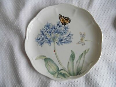 Lenox American By Design Butterfly Meadow, Blue. Salad Plate. Set Of 4. New.