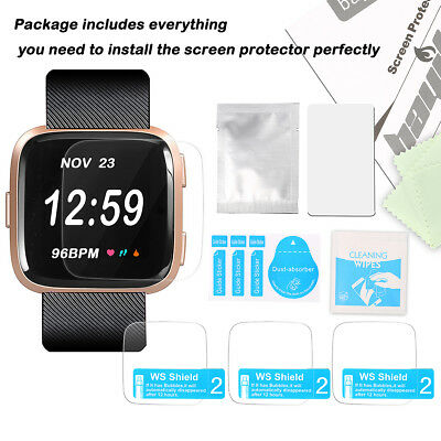 Pack 3 Screen Protector Film for Fitbit Versa 2 Lite watch Ultra Thin HD Clear