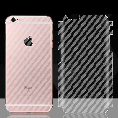 cheap for discount 5918c f4a96 SOFT CARBON FIBER Sticker Full Cover Back Film Protector for iPhone ...