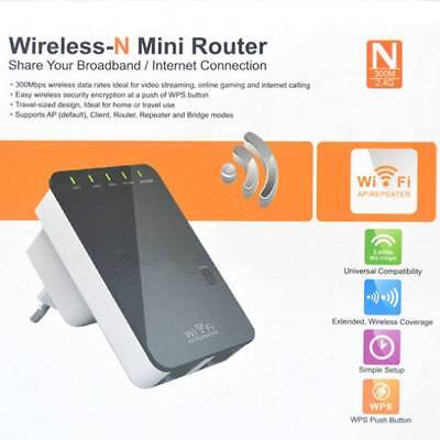 300Mbps Wireless N Wifi Repeater AP Range Router Extender Signal Booster 802.11