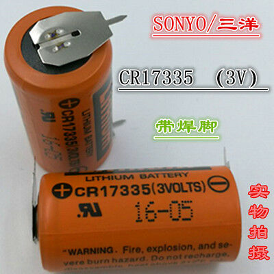 2PCS Original SANYO CR17335 3V Control Battery With Welding Foot CR17335 3V 17mm