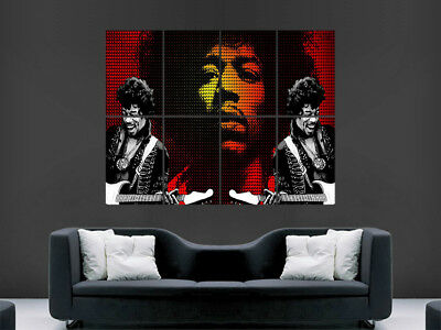 Jimi Hendrix Poster Music Art Legend Giant Wall Poster Picture Print Large