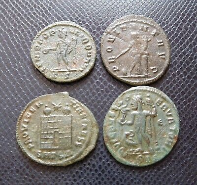 ROMAN IMPERIAL / 4 x ANCIENT BRONZE COIN LOT 8.