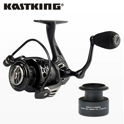 KastKing Mela II Upgrading Carbon Fiber Drag Spinning Reel Extra Spool Fishing