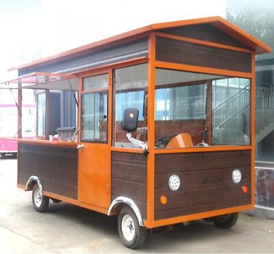 New 3Mx1.8M Electric Concession Stand Trailer Kitchen Ship By Sea