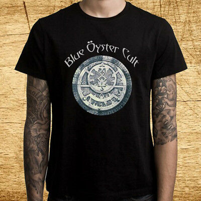 New Blue Oyster Cult Black Blade Logo Men's Black T-Shirt Size S-3XL