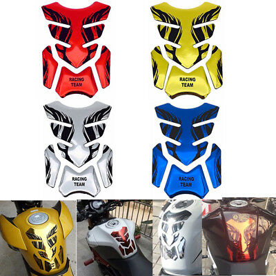 3D Motorcycle Gas Oil Fuel Tank Protector Pad Decal Sticker Universal Fitment