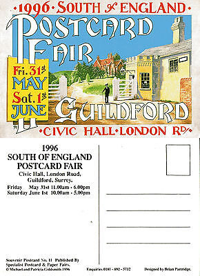 1996 South Of England Postcard Fair Guildford Surrey Mint Postcard