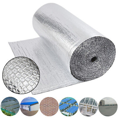 Double Aluminium Bubble Foil Insulation Loft Caravan Home Wall Shed Various Size