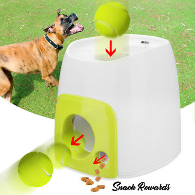 Automatic Dog Pet Puppy Ball Launcher Tennis Toy Fetch Training Thrower  Outdoor