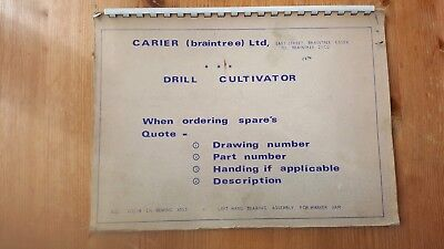 carier drill cultivator parts manual
