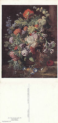 1990's THE BOUQUET FROM A PAINTING BY JAN VAN HUYSUM UNUSED COLOUR POSTCARD