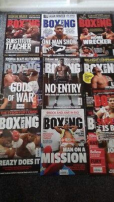Anthony  Joshua   Boxing News X 10   Issues  ( 2016 + 2017 )