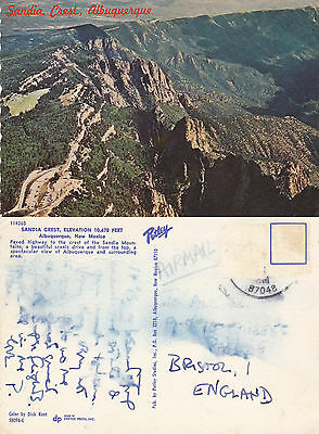 1970's SANDIA CREST ALBUQUERQUE NEW MEXICO UNITED STATES COLOUR POSTCARD