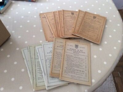 15 Vintage Editions of Journal of the Royal Horticultural Society VGC. 1946-1965