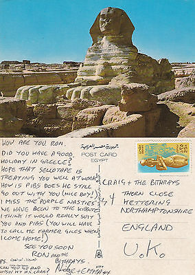 1980's THE SPHINX GIZA EGYPT COLOUR POSTCARD