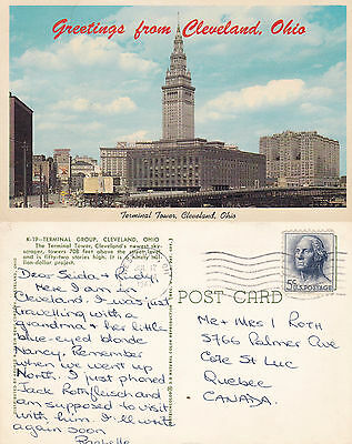 1967 Terminal Towers Cleveland Ohio United States Postcard