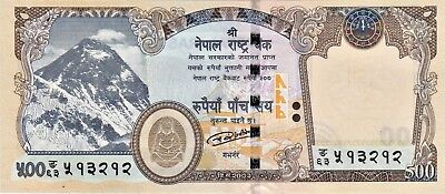 Brand New Nepal Rupees-500 Banknote Issued 2016 Uncirculated/unc