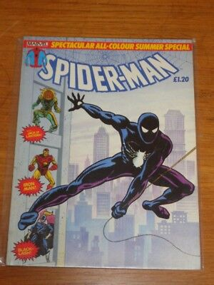 Spiderman British Weekly Summer Special 1984 Marvel Black Costume