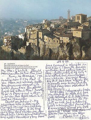1993 Panorama Of Cuenca Spain Colour Postcard