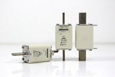 3 Piece Siemens nh-sicherung 224A - 3NA3 142 Unused