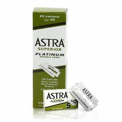 Astra Superior Platinum Double Edge Razor Blades Safety Mens Razor Blades