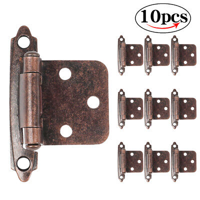10 Pcs Self Closing Cupboard Cabinet Kitchen Door Hinges Oil Rubbed Bronze