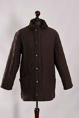 Men's Barbour Microfibre Polarquilt Quilt Jacket Size M L Genuine Casual