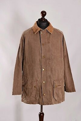 Men's Barbour Natural Weathered Casual Jacket Size L Genuine