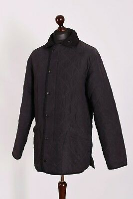 Men's Barbour Microfibre Polarquilt Long Quilt Jacket Size M Genuine Casual