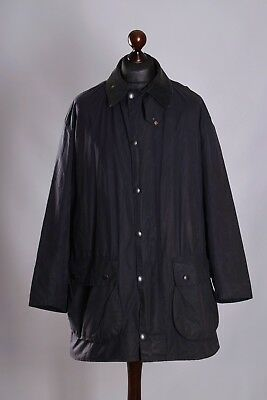 Men's Barbour Border Blue Jacket Size C44 / 112cm Genuine Casual Waxed