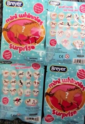 Breyer Mini Whinnies Surprise Lot of 4 New Unopened 2018