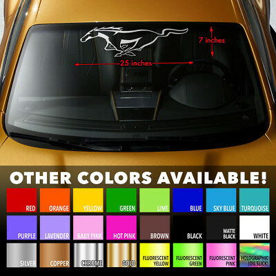 Windshield Banner Vinyl Decal Sticker for Ford Mustang Shelby 350 GT500 Cobra