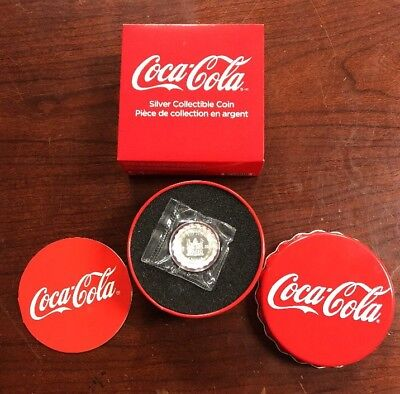 2018 Fiji Coca-Cola Bottle Cap-Shaped 6 g Silver Colorized Proof $1 Coin