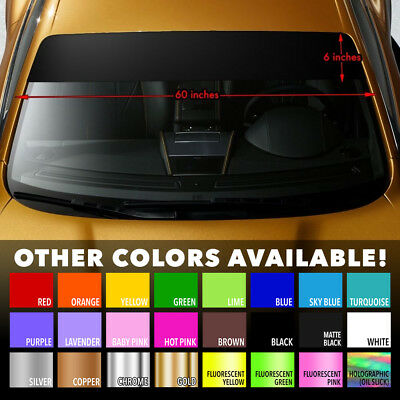 "Sun Strip Visor Windshield Banner Premium Vinyl Decal Cast PVC Film 60""x6"""