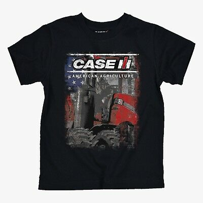 """Case IH Black Short Sleeve """"Case IH American Agriculture"""" Youth T-Shirt"""