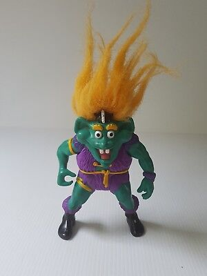Troll doll Warrior action figure loose by Tyco 1992 green with yellow hair