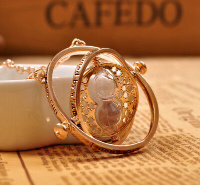 NEW Harry Potter Time Turner Hermione Granger Rotating Necklace
