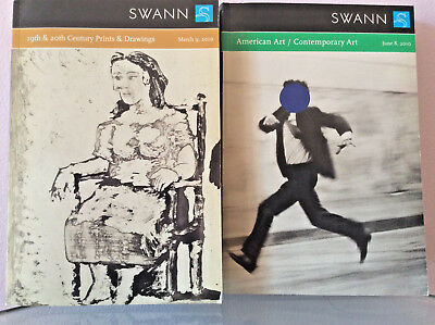 SWANN TWO CATALOGUES  March 9, 2010 June 8, 2010 Contemporary Art FREE SHIPPING
